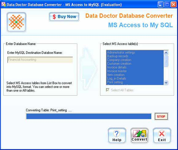 Convert MS Access To MySql Database