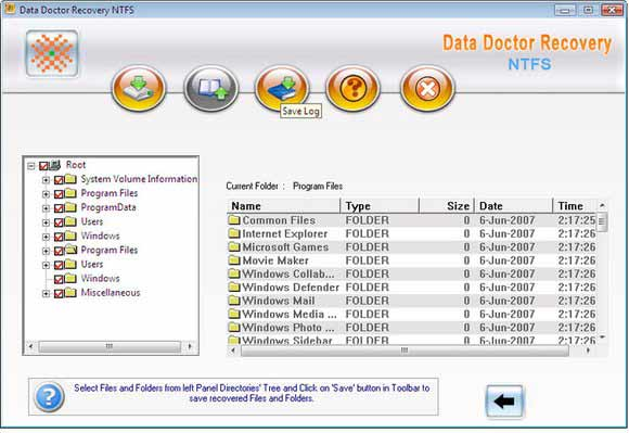 NTFS Partition Salvage Software screenshot