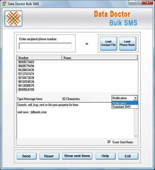 Pocket PC Bulk SMS Tool