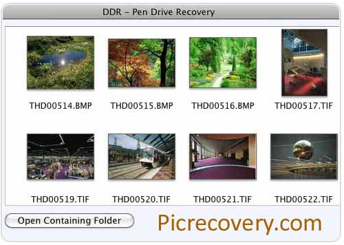 Quickly restores deleted images from USB