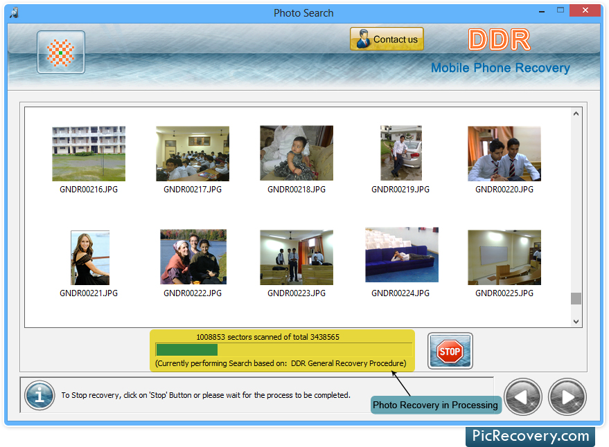 Restore deleted images, photos or pictures